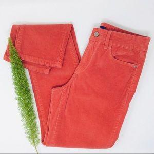 NYDJ Gorgeous Coral Corduroy Skinny Pants Size (2)